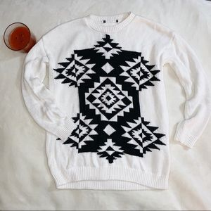Forever 21 Aztec design thick knit winter sweater
